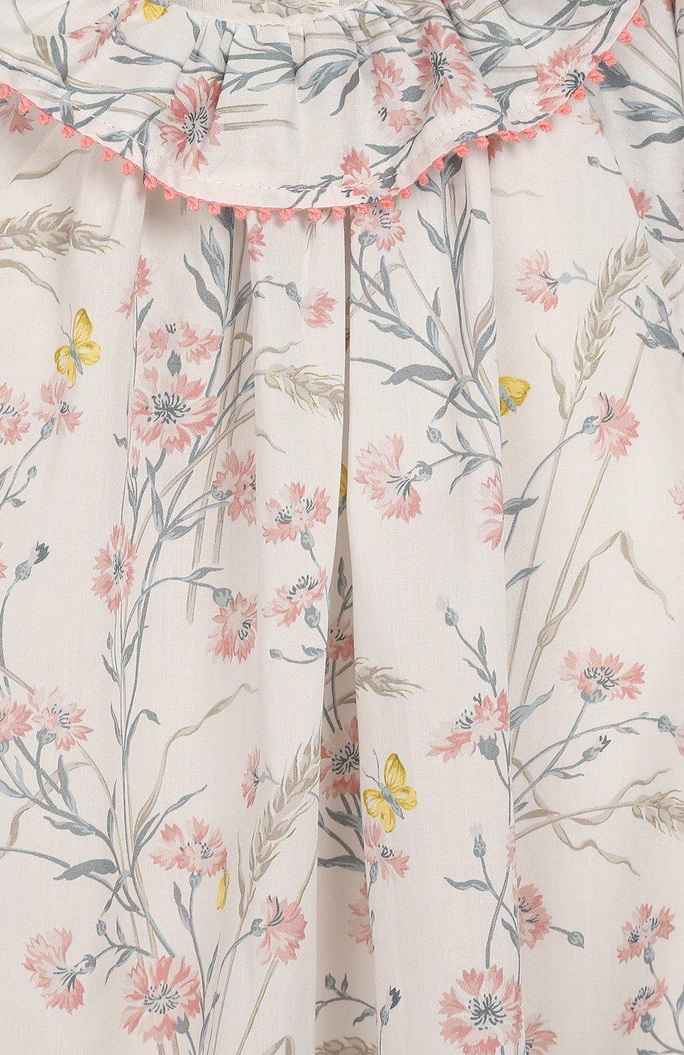 Женский хлопковое платье TARTINE ET CHOCOLAT бежевого цвета, арт. TQ30041/18M-3A   Фото 3