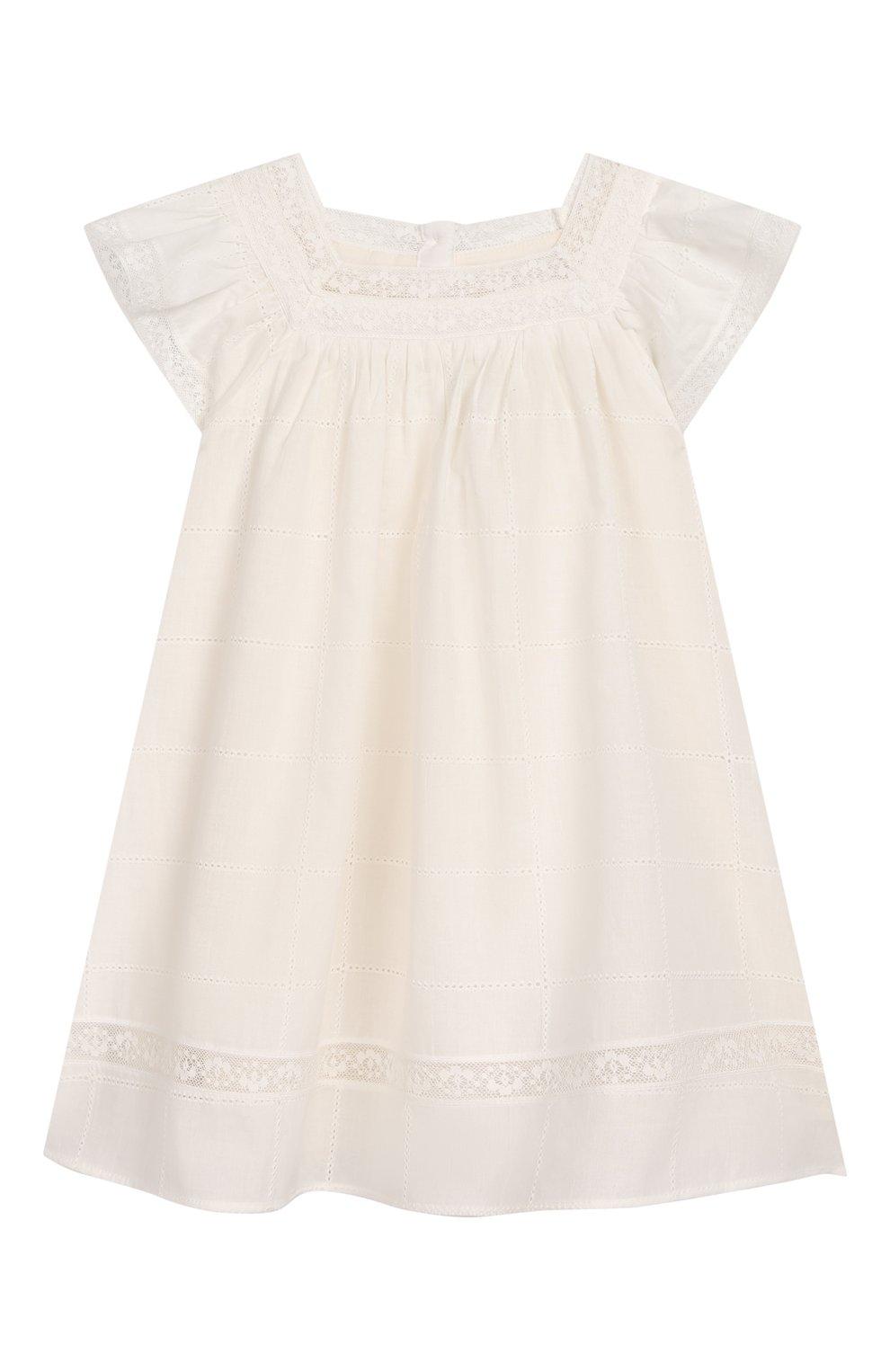 Женский хлопковое платье TARTINE ET CHOCOLAT бежевого цвета, арт. TQ30031/18M-3A   Фото 1