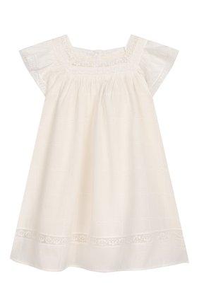 Женский хлопковое платье TARTINE ET CHOCOLAT бежевого цвета, арт. TQ30031/18M-3A | Фото 1