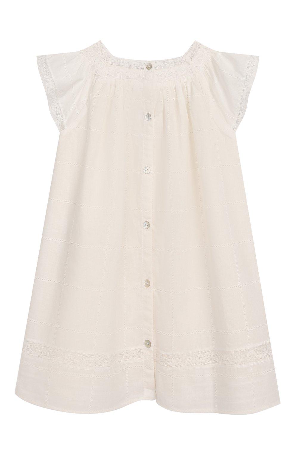 Женский хлопковое платье TARTINE ET CHOCOLAT бежевого цвета, арт. TQ30031/18M-3A   Фото 2