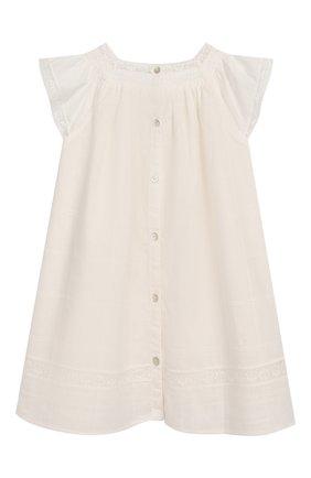 Женский хлопковое платье TARTINE ET CHOCOLAT бежевого цвета, арт. TQ30031/18M-3A | Фото 2