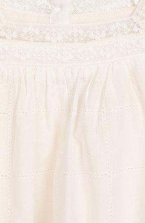 Женский хлопковое платье TARTINE ET CHOCOLAT бежевого цвета, арт. TQ30031/18M-3A   Фото 3