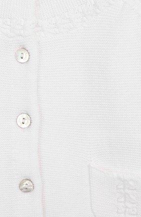 Детский хлопковый кардиган TARTINE ET CHOCOLAT белого цвета, арт. TQ18001 | Фото 3