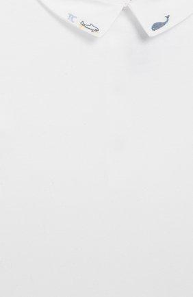Детское хлопковое боди TARTINE ET CHOCOLAT белого цвета, арт. TQ11131/18M-3A | Фото 3