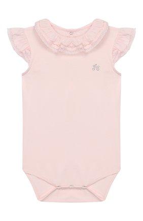 Детское хлопковое боди TARTINE ET CHOCOLAT розового цвета, арт. TQ11021/18M-3A | Фото 1