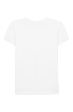 Детская хлопковая футболка LORO PIANA белого цвета, арт. FAI9443 | Фото 2