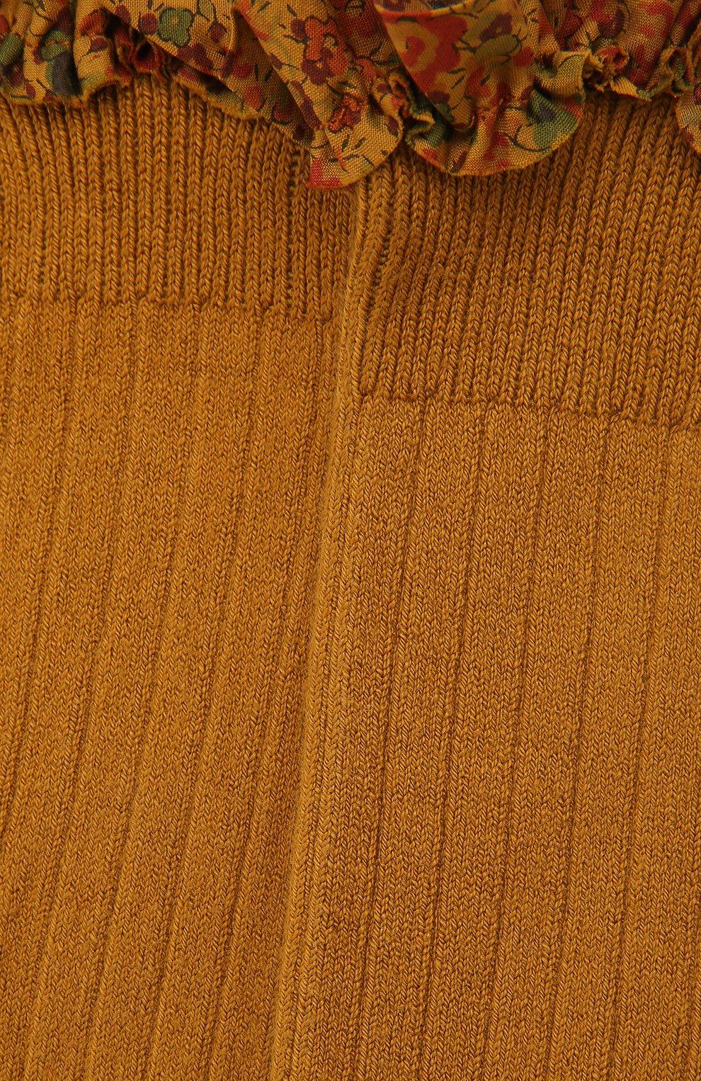 Детские гольфы COLLEGIEN желтого цвета, арт. 2956 | Фото 2
