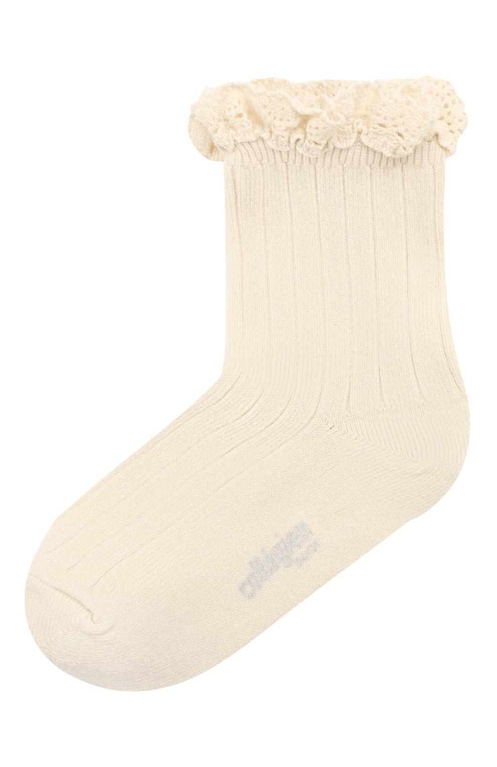 Детские носки COLLEGIEN белого цвета, арт. 3455/18-35 | Фото 1