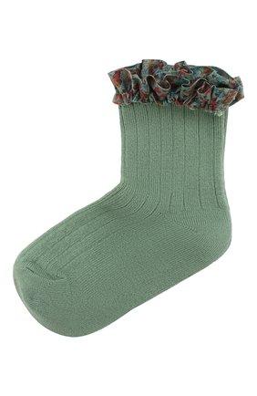 Детские носки COLLEGIEN зеленого цвета, арт. 3458/18-35 | Фото 1