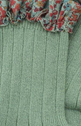Детские носки COLLEGIEN зеленого цвета, арт. 3458/18-35 | Фото 2