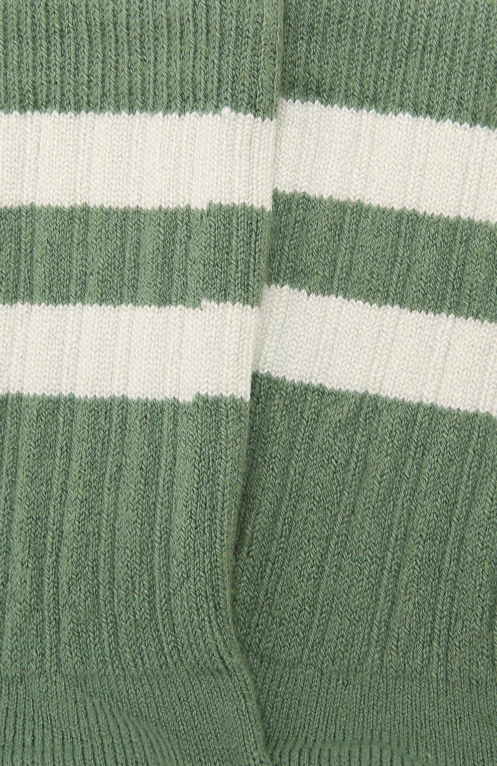 Детские носки COLLEGIEN зеленого цвета, арт. 8470/18-35 | Фото 2 (Материал: Текстиль, Хлопок)