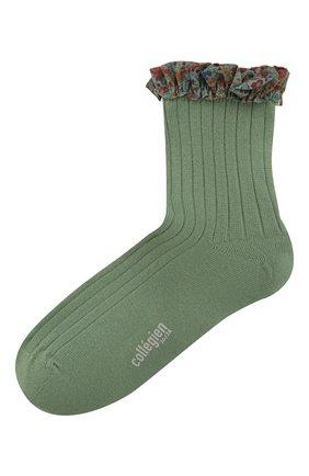 Детские носки COLLEGIEN зеленого цвета, арт. 3458/36-44 | Фото 1