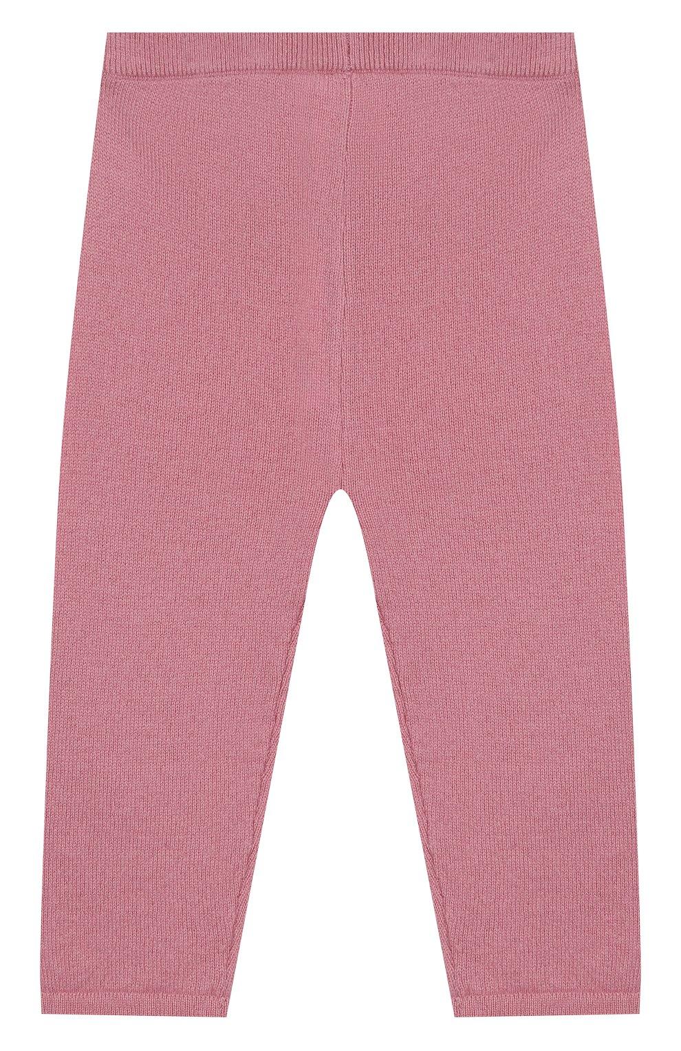 Детские кашемировые брюки LES LUTINS розового цвета, арт. 20E001/LEGGING | Фото 2