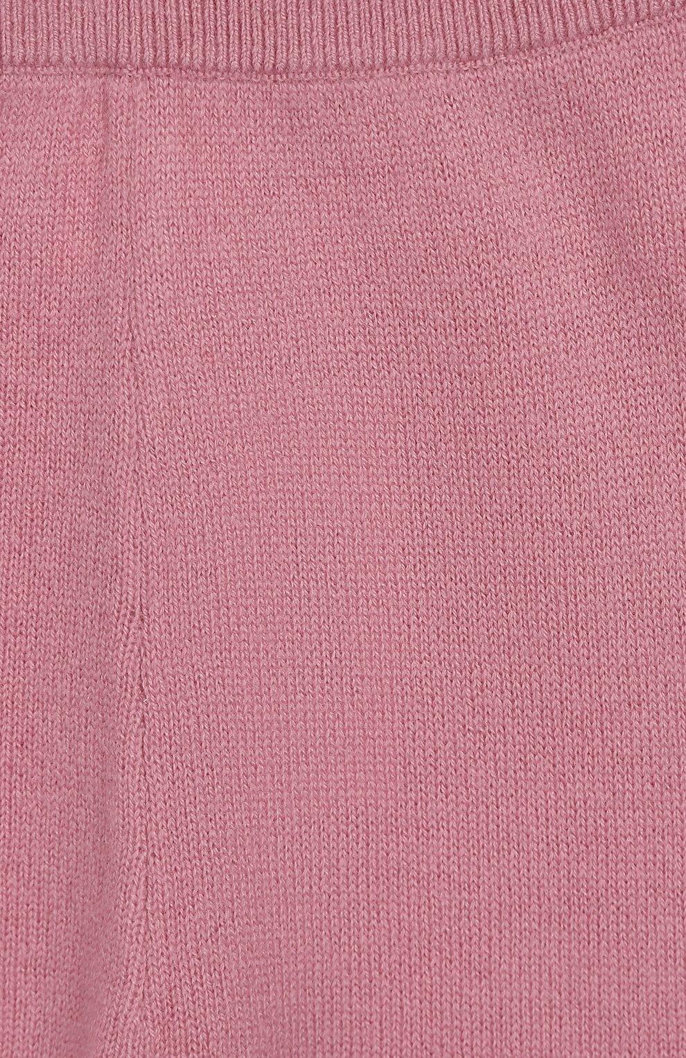 Детские кашемировые брюки LES LUTINS розового цвета, арт. 20E001/LEGGING | Фото 3