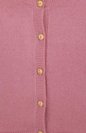 Детский кашемировый кардиган LES LUTINS розового цвета, арт. 20E003/N0EMIE | Фото 3