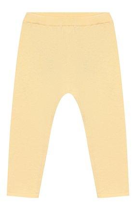 Детского хлопковые брюки LES LUTINS желтого цвета, арт. 20E013/LEGGING C | Фото 1