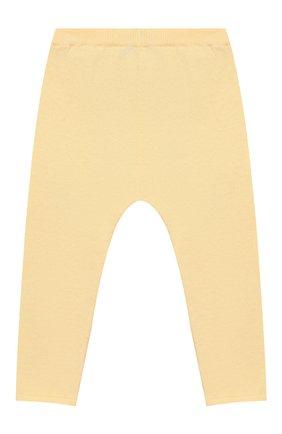 Детского хлопковые брюки LES LUTINS желтого цвета, арт. 20E013/LEGGING C | Фото 2