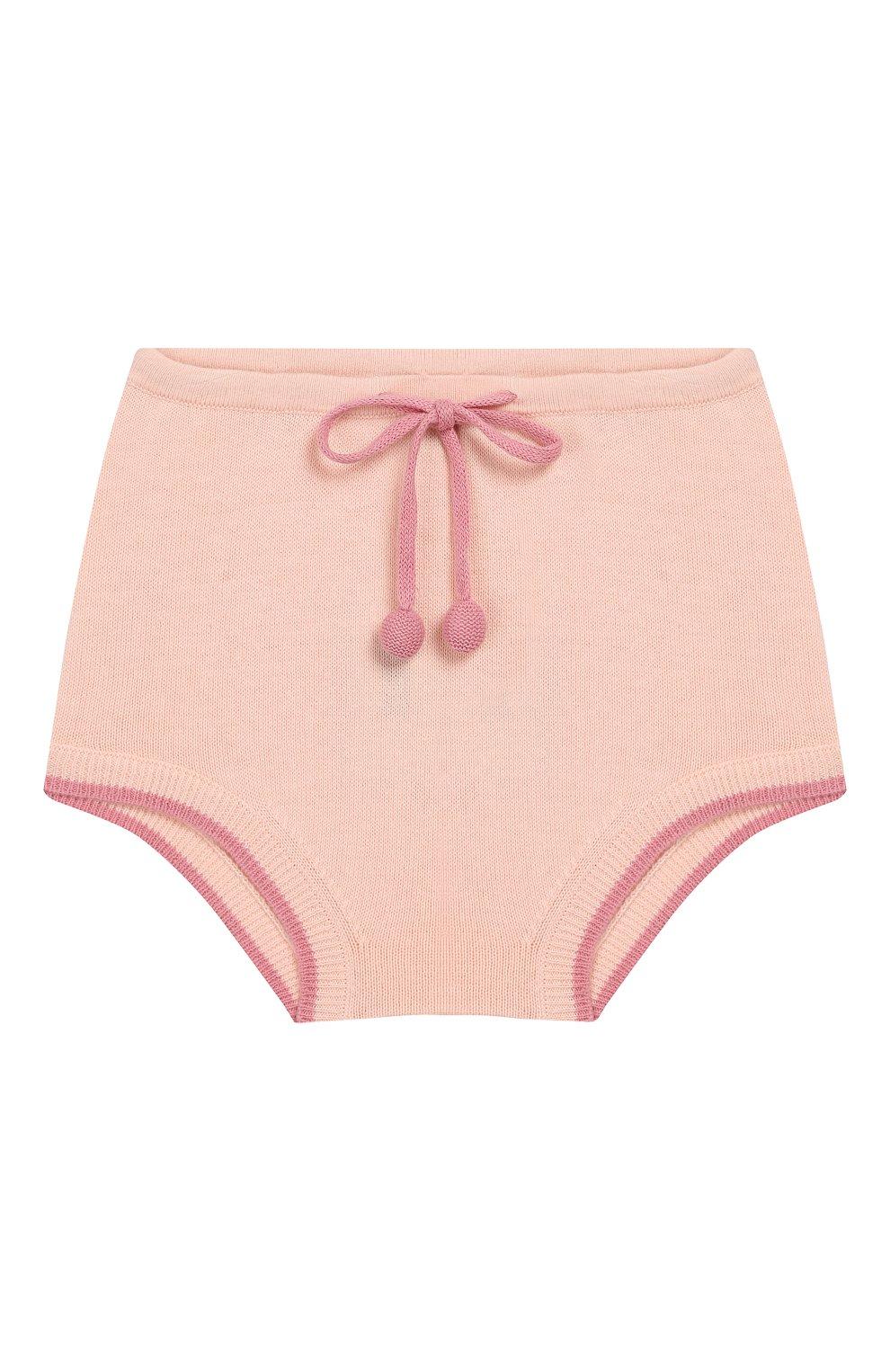 Детские хлопковые шорты LES LUTINS розового цвета, арт. 20E044/BERTHE | Фото 1