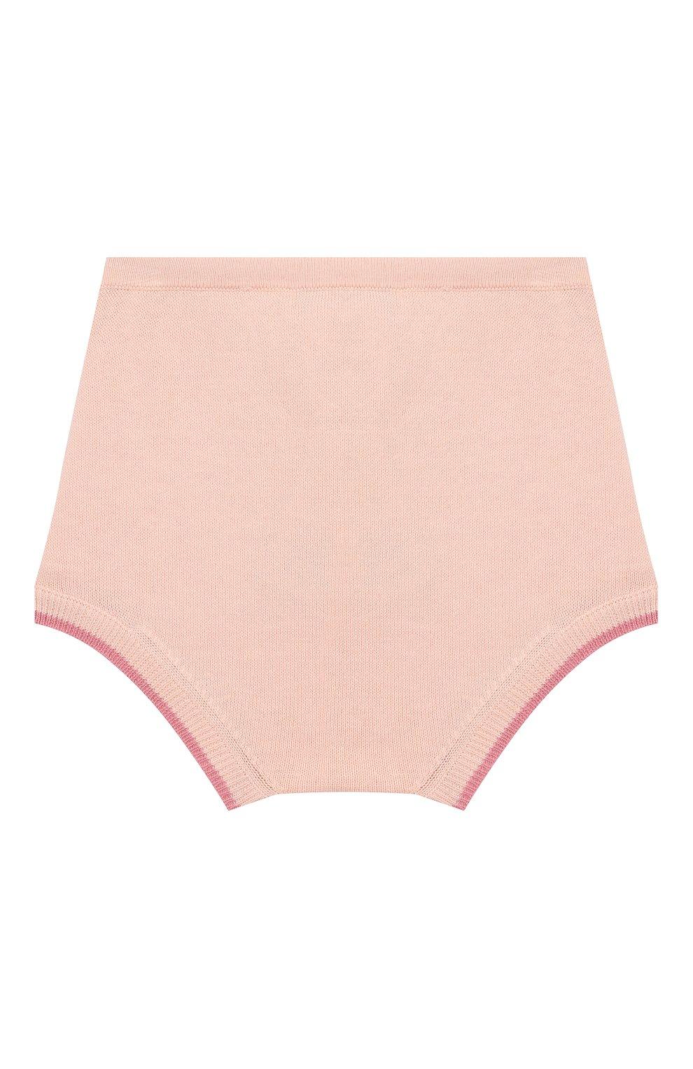 Детские хлопковые шорты LES LUTINS розового цвета, арт. 20E044/BERTHE | Фото 2