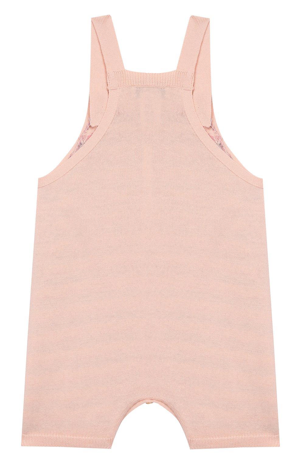 Детский хлопковый комбинезон LES LUTINS розового цвета, арт. 20E048/LINE | Фото 2
