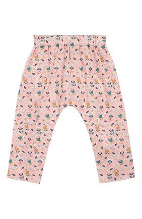 Детского хлопковые брюки LES LUTINS розового цвета, арт. 20E145/SAR0UEL | Фото 1