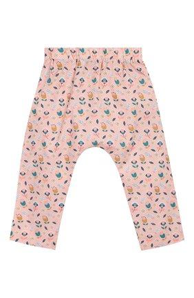 Детского хлопковые брюки LES LUTINS розового цвета, арт. 20E145/SAR0UEL | Фото 2