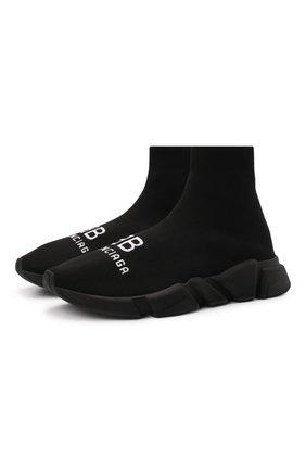 Мужские текстильные кроссовки speed BALENCIAGA черного цвета, арт. 617238/W2A51 | Фото 1 (Материал внешний: Текстиль; Материал внутренний: Текстиль; Подошва: Массивная; Стили: Гранж)