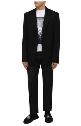 Мужские текстильные кроссовки speed BALENCIAGA черного цвета, арт. 617238/W2A51 | Фото 2 (Материал внешний: Текстиль; Материал внутренний: Текстиль; Подошва: Массивная; Стили: Гранж)