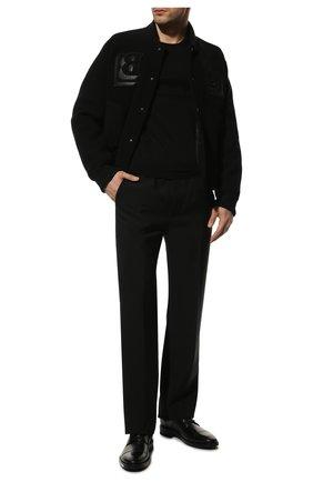 Мужской кожаные дерби BALENCIAGA черного цвета, арт. 590716/WA720 | Фото 2