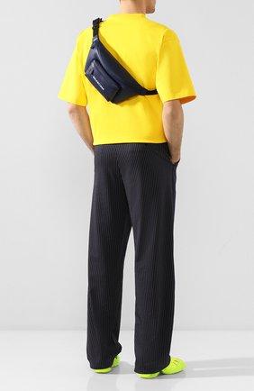 Мужская кожаная поясная сумка everyday BALENCIAGA темно-синего цвета, арт. 552375/DLQ4N   Фото 2