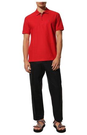Мужские текстильные сандалии BURBERRY разноцветного цвета, арт. 8027399 | Фото 2 (Материал внешний: Текстиль)
