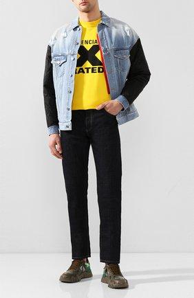 Мужские комбинированные кроссовки valentino garavani rockrunner plus VALENTINO хаки цвета, арт. TY0S0C88/MHB | Фото 2