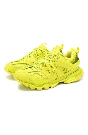 Мужские комбинированные кроссовки track BALENCIAGA желтого цвета, арт. 542023/W2LA1 | Фото 1