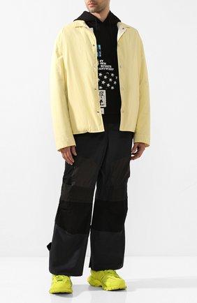 Мужские комбинированные кроссовки track BALENCIAGA желтого цвета, арт. 542023/W2LA1 | Фото 2