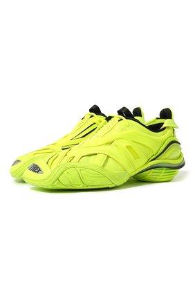 Мужские комбинированные кроссовки tyrex BALENCIAGA желтого цвета, арт. 617535/W2UA1 | Фото 1
