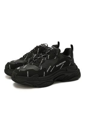 Мужские комбинированные кроссовки triple s BALENCIAGA черно-белого цвета, арт. 536737/W2FA1 | Фото 1