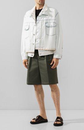 Мужские кожаные шлепанцы DRIES VAN NOTEN бордового цвета, арт. MS27/066/QU126 | Фото 2