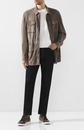 Мужские кожаные кеды BERLUTI темно-коричневого цвета, арт. S5093-001 | Фото 2