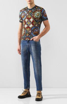 Мужские текстильные кроссовки FENDI бежевого цвета, арт. 7E1347 AAWZ | Фото 2