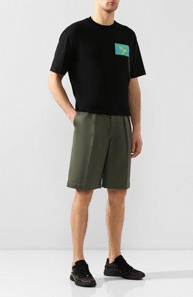 Мужские комбинированные кроссовки trail ACNE STUDIOS черного цвета, арт. BD0094   Фото 2