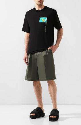 Мужские текстильные сандалии comfylette high Y-3 черного цвета, арт. EH1742/M | Фото 2