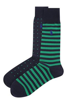 Мужские комплект из двух пар носков POLO RALPH LAUREN темно-синего цвета, арт. 449799735 | Фото 1