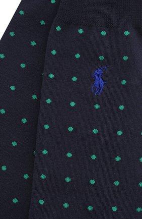 Мужские комплект из двух пар носков POLO RALPH LAUREN темно-синего цвета, арт. 449799735 | Фото 2