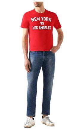 Мужская хлопковая футболка MC2 SAINT BARTH красного цвета, арт. STBM TSHIRT MAN/TSHM001 | Фото 2