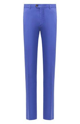 Мужской хлопковые брюки RALPH LAUREN синего цвета, арт. 790802188   Фото 1