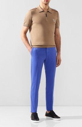 Мужской хлопковые брюки RALPH LAUREN синего цвета, арт. 790802188   Фото 2
