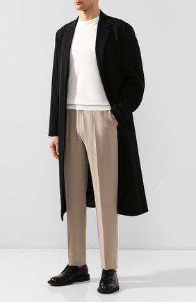 Мужские шерстяные брюки RALPH LAUREN бежевого цвета, арт. 798794542   Фото 2 (Длина (брюки, джинсы): Стандартные; Материал подклада: Вискоза; Материал внешний: Шерсть; Случай: Повседневный)
