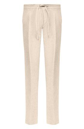 Мужской льняные брюки LORO PIANA бежевого цвета, арт. FAI6395 | Фото 1