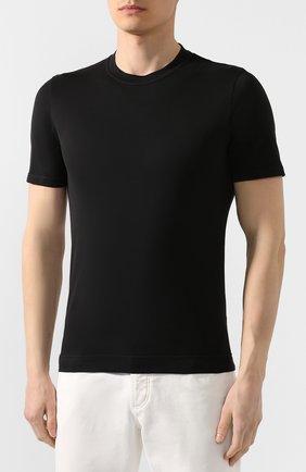 Мужская хлопковая футболка FEDELI черного цвета, арт. 3UED0103 | Фото 3