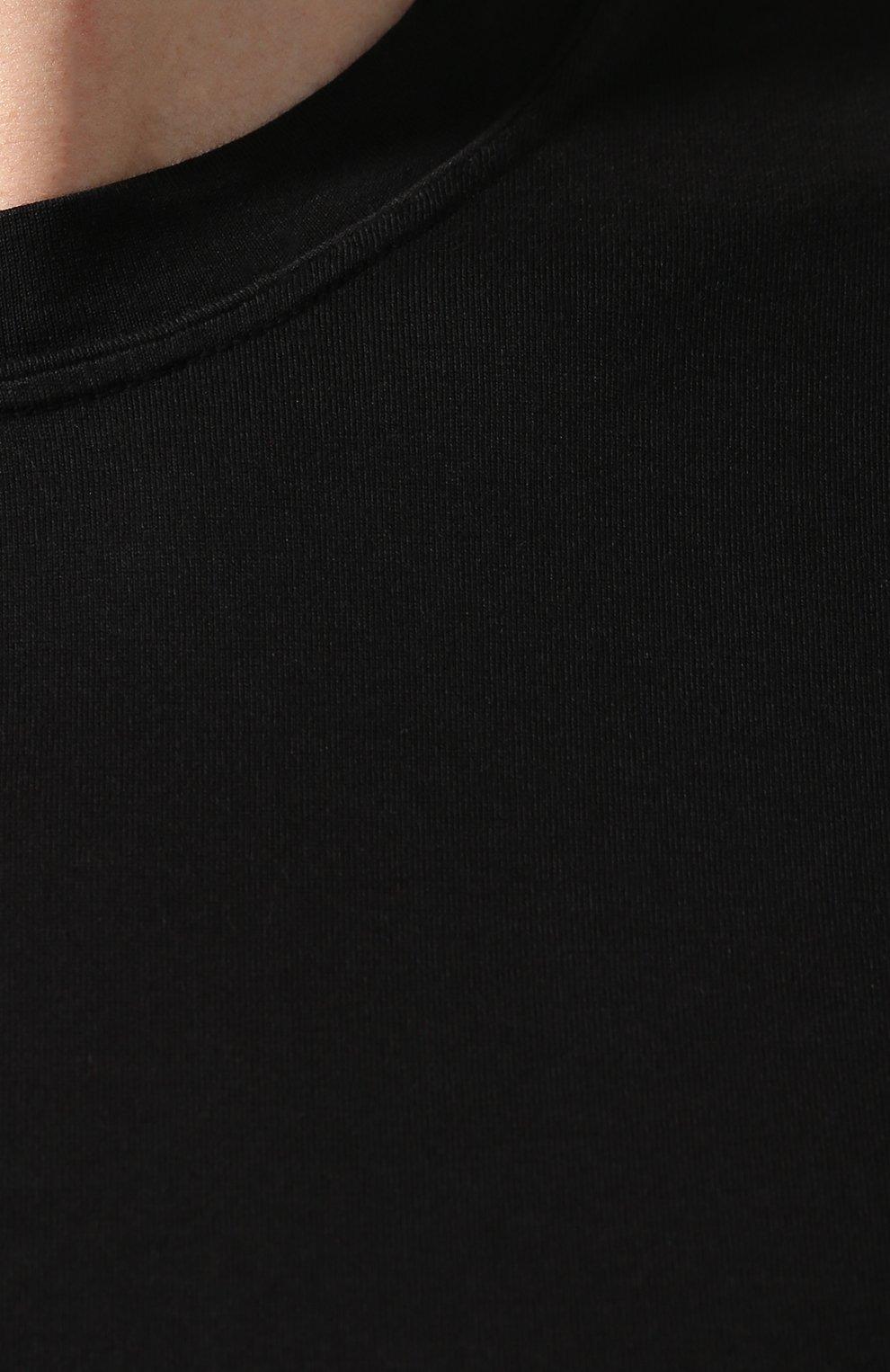 Мужская хлопковая футболка FEDELI черного цвета, арт. 3UED0103 | Фото 5
